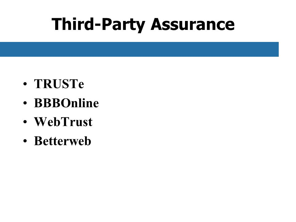 Third-Party Assurance