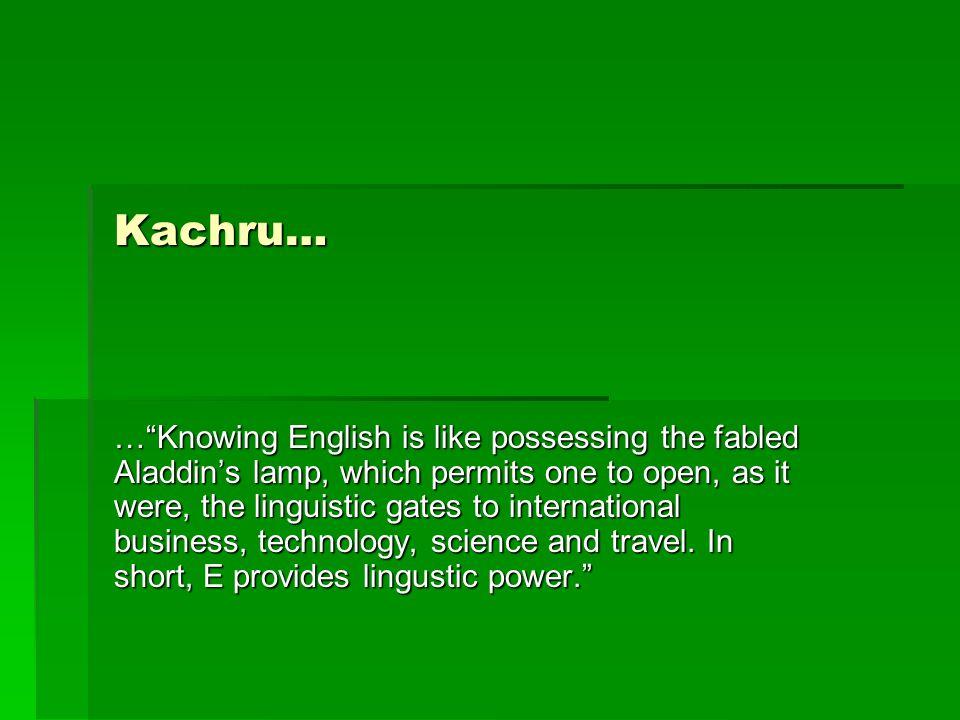 Kachru…