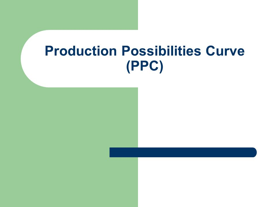 Production Possibilities Curve (PPC)