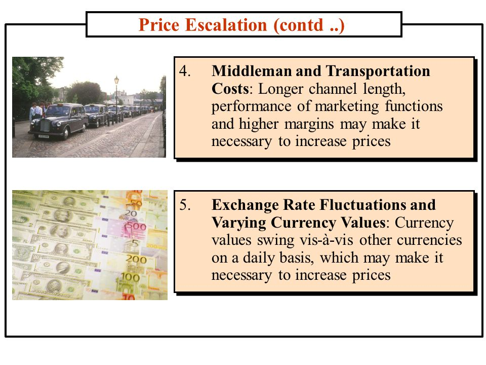 Price Escalation (contd ..)