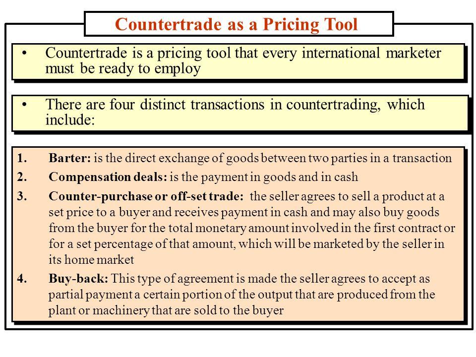 Countertrade as a Pricing Tool