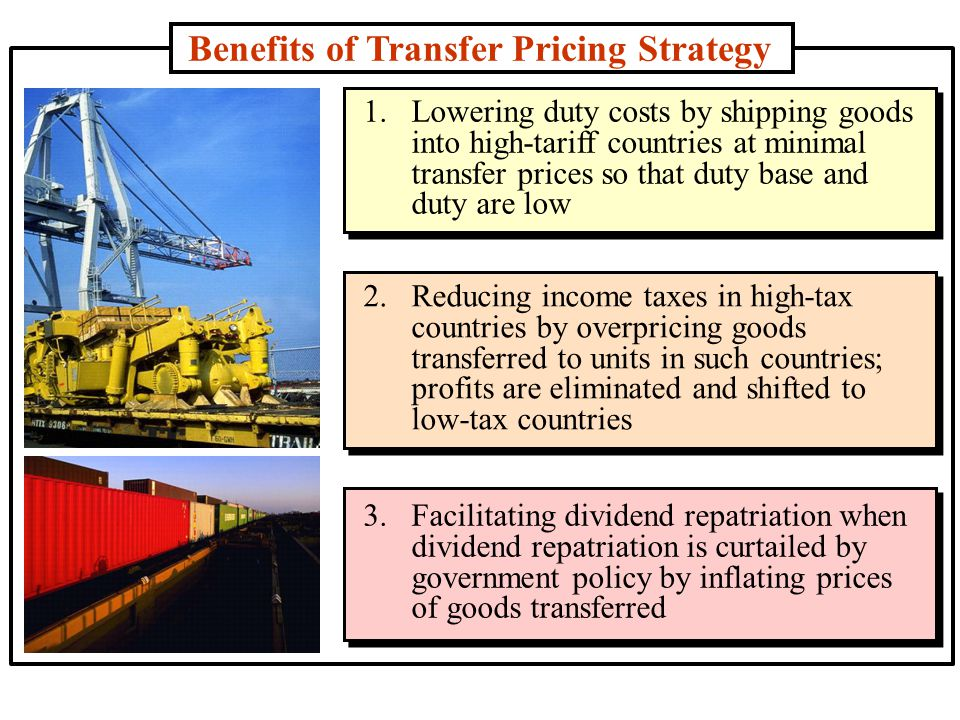Benefits of Transfer Pricing Strategy