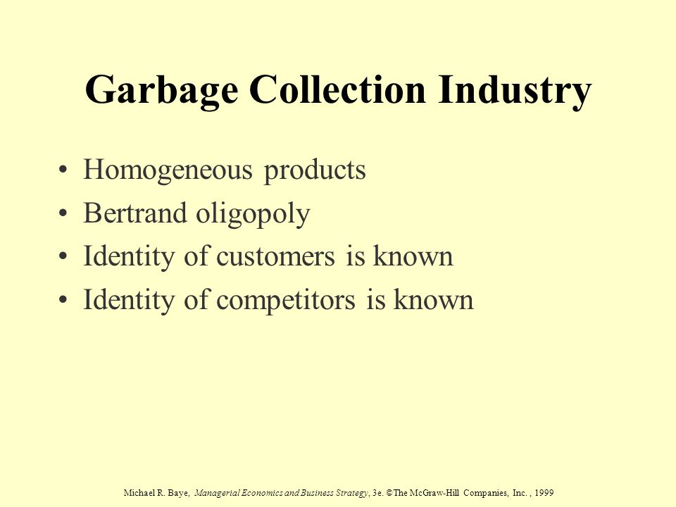 Garbage Collection Industry