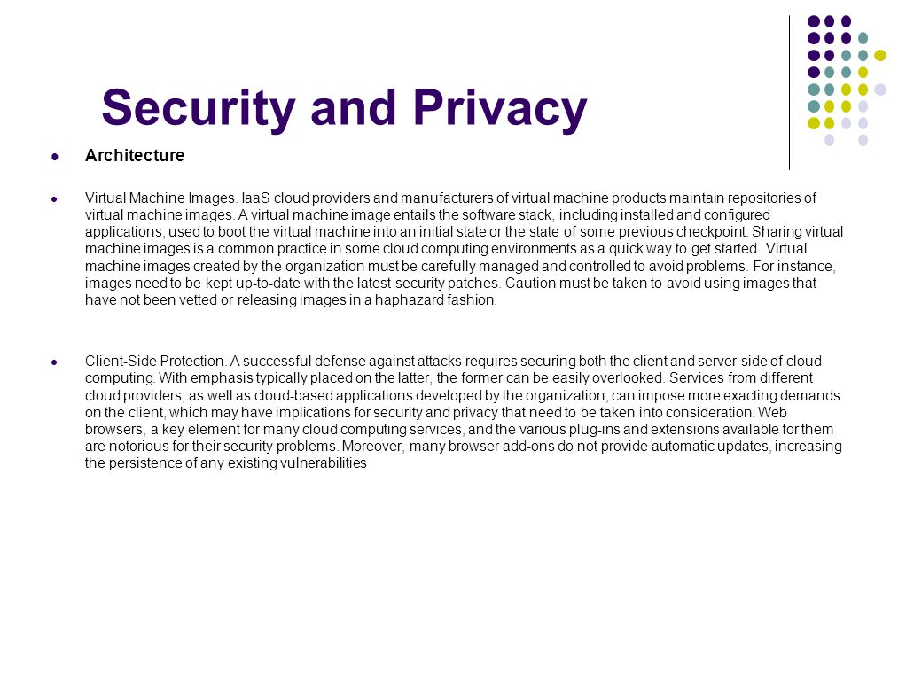 Security and Privacy Architecture
