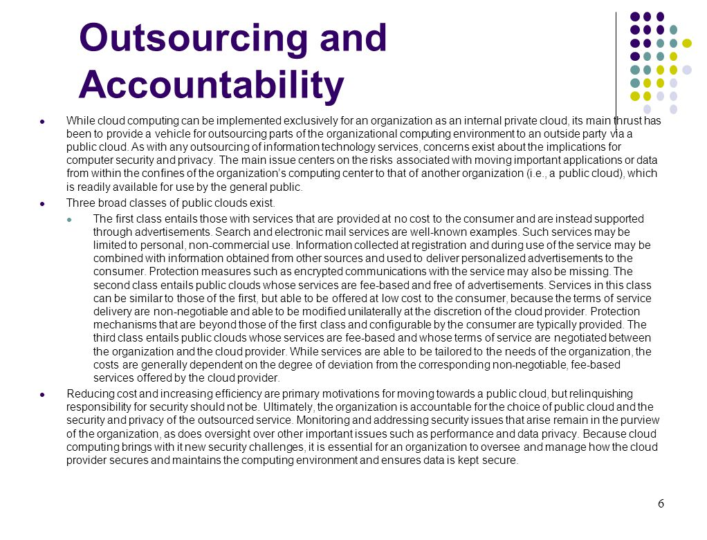 Outsourcing and Accountability