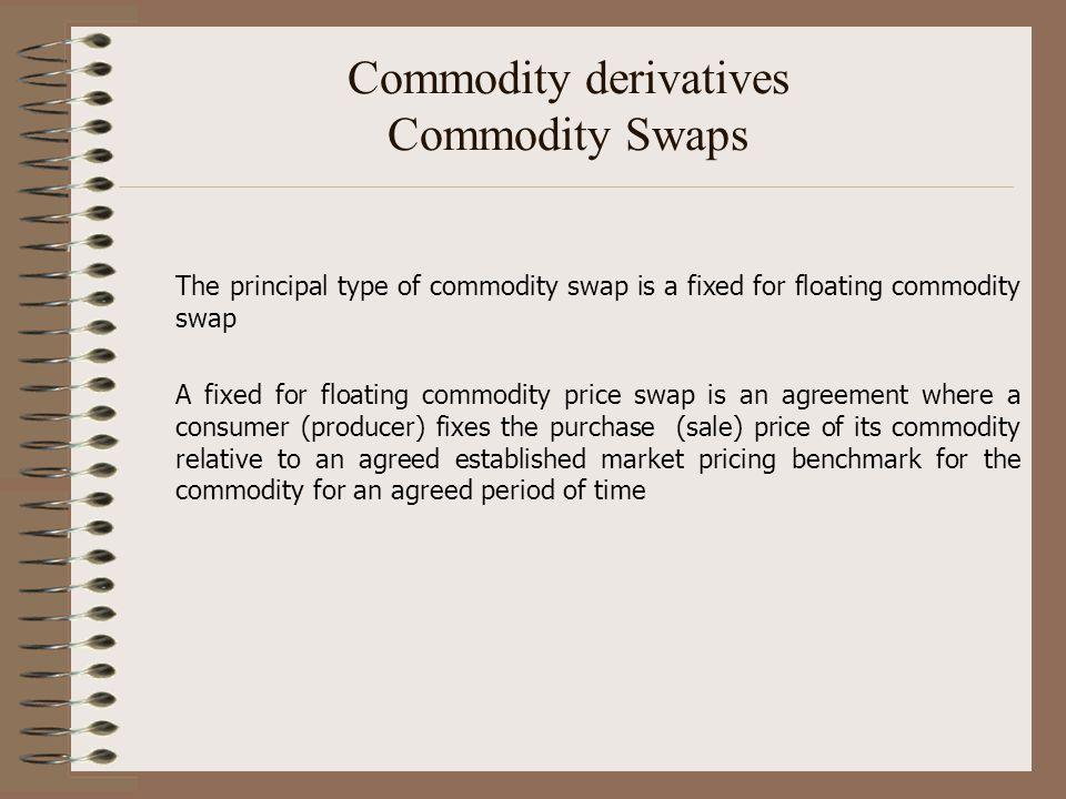 Commodity derivatives Commodity Swaps