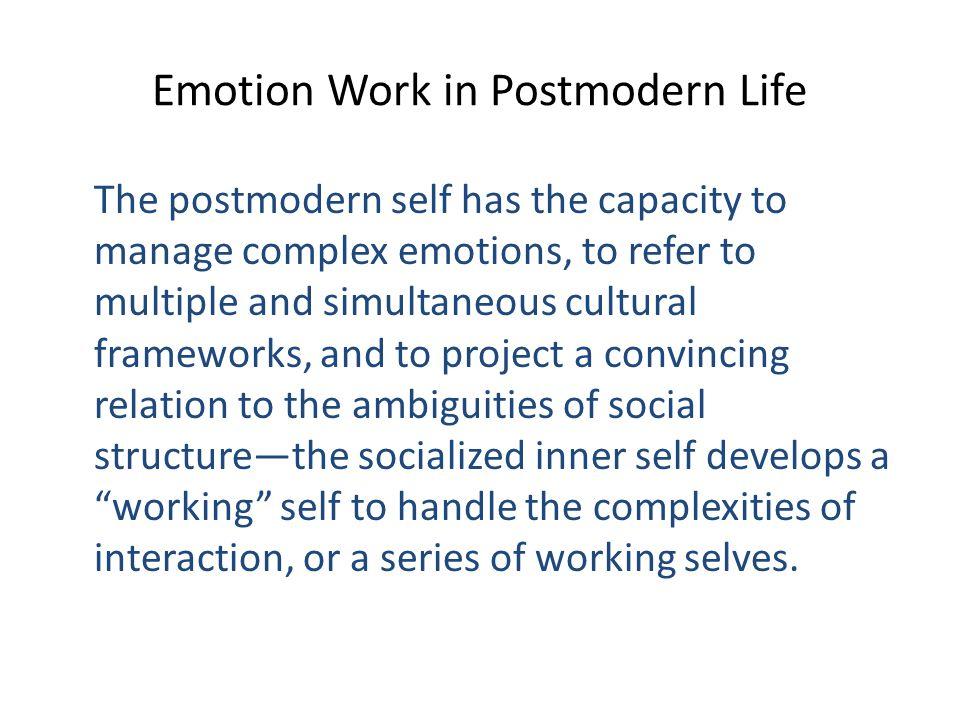 Emotion Work in Postmodern Life