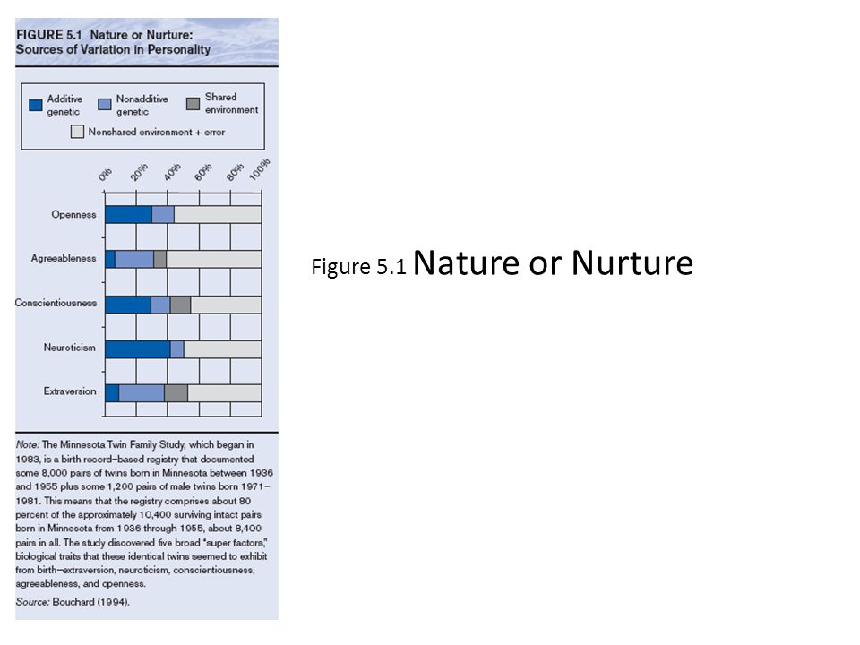 Figure 5.1 Nature or Nurture