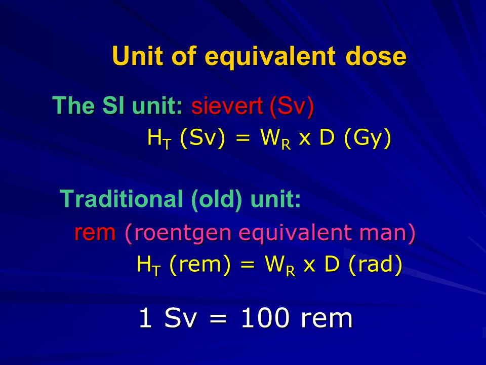 Unit of equivalent dose
