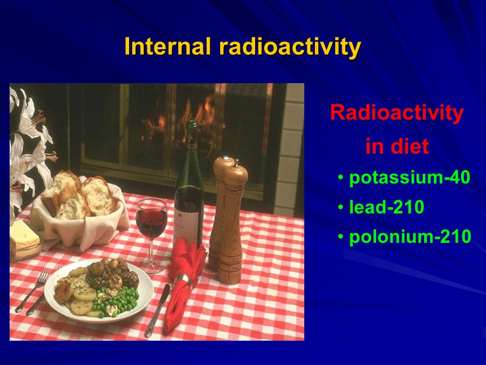 Internal radioactivity