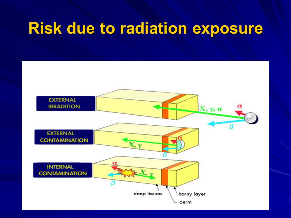 Risk due to radiation exposure