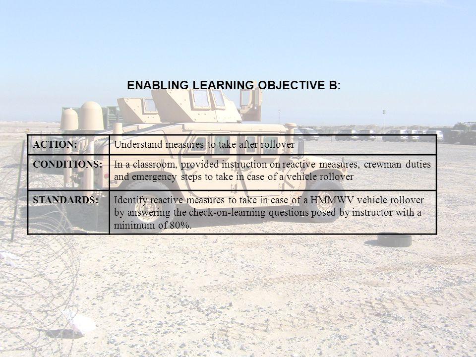 ENABLING LEARNING OBJECTIVE B: