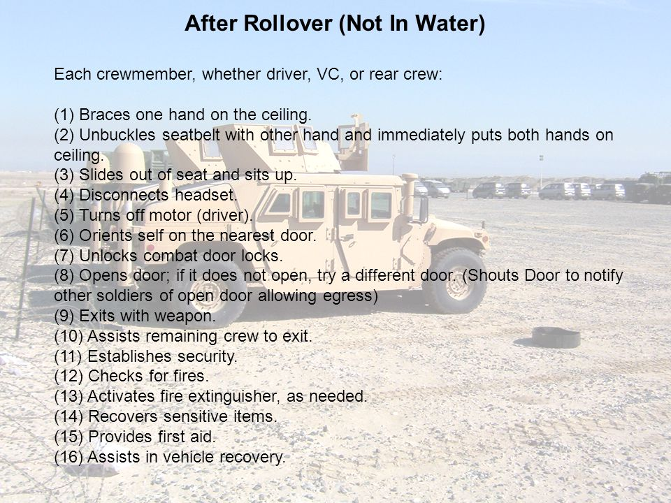 After Rollover (Not In Water)