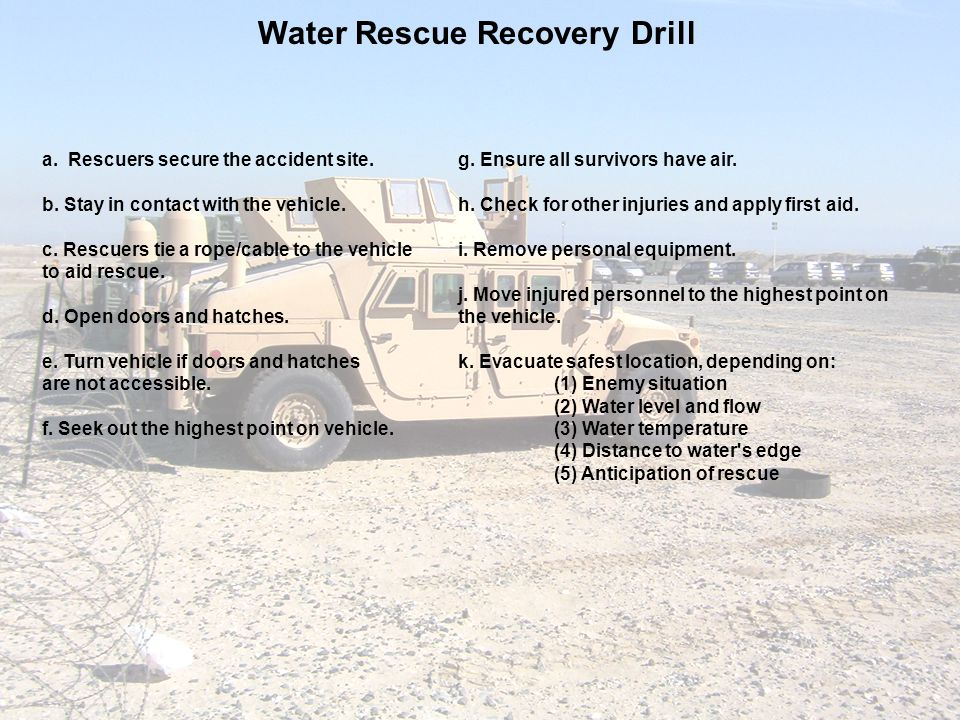 Water Rescue Recovery Drill