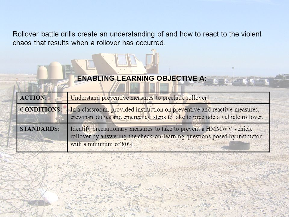 ENABLING LEARNING OBJECTIVE A:
