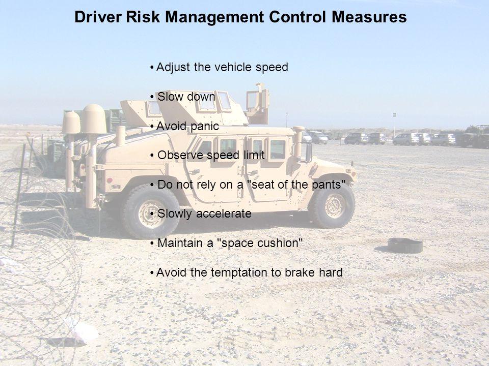 Driver Risk Management Control Measures
