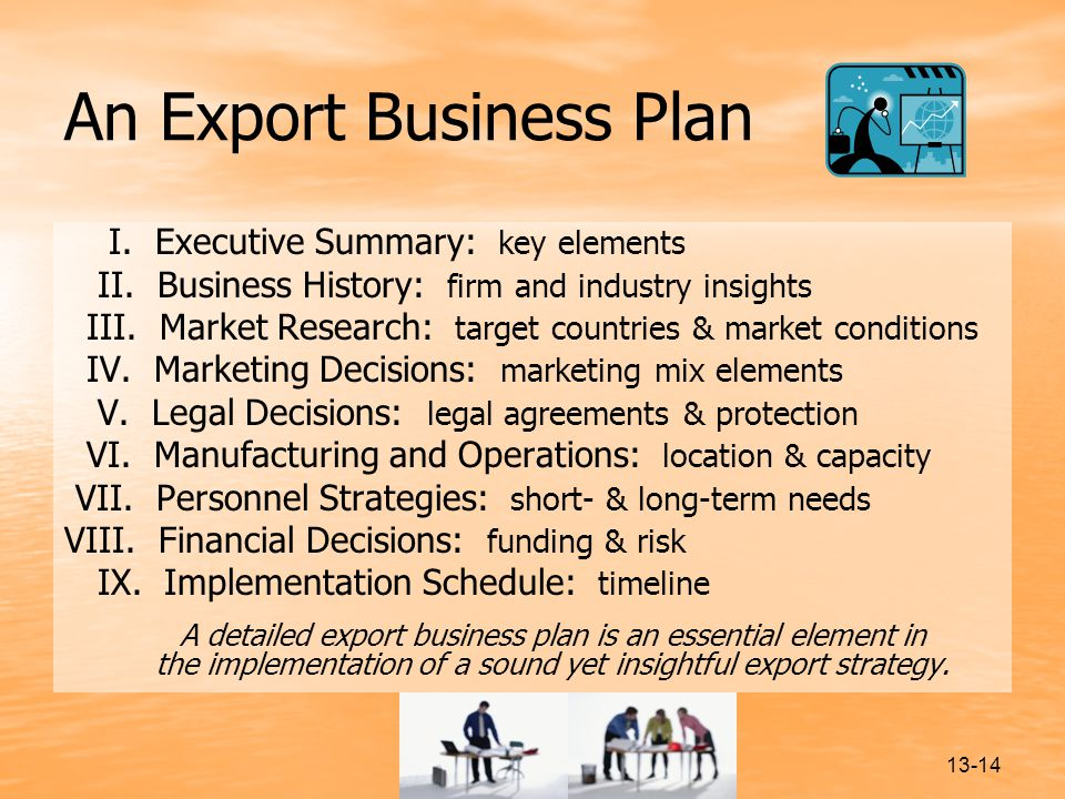 export business plan sample Confidential export marketing plan [insert date] company abc funded in part through a grant award with the us small business administration.