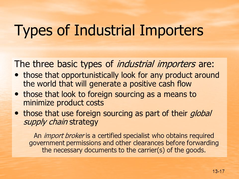 Types of Industrial Importers