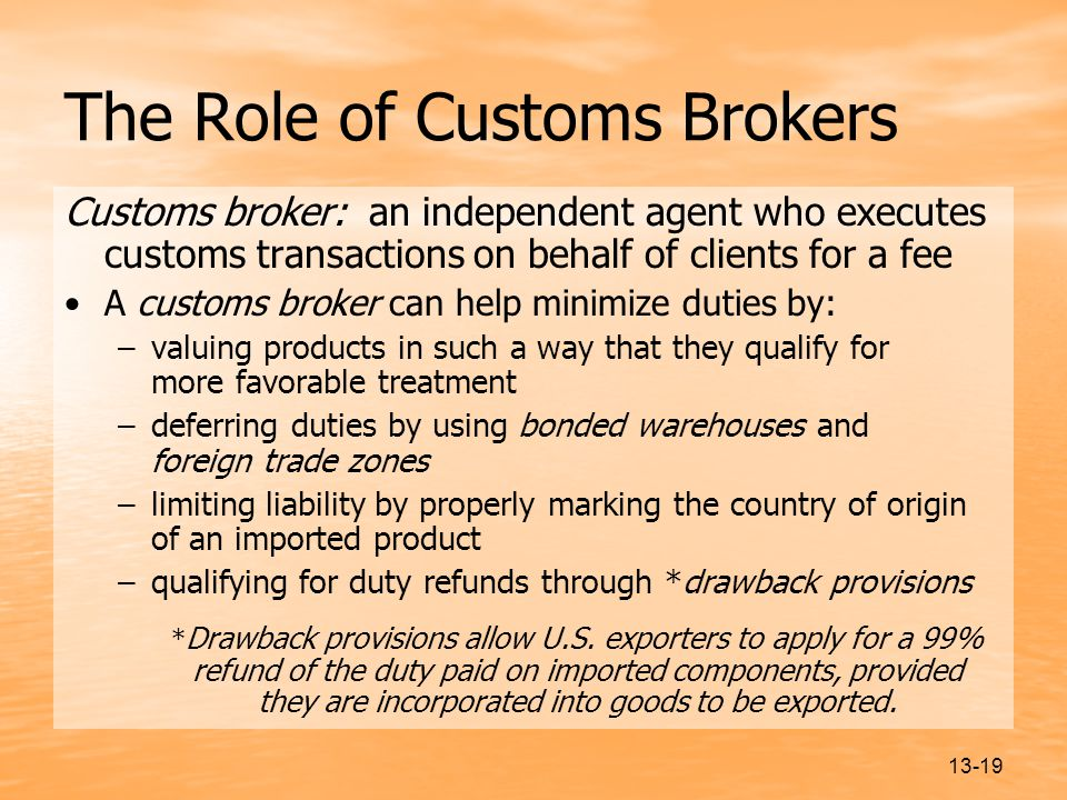 The Role of Customs Brokers