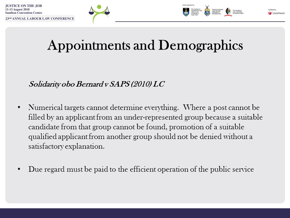 Appointments and Demographics
