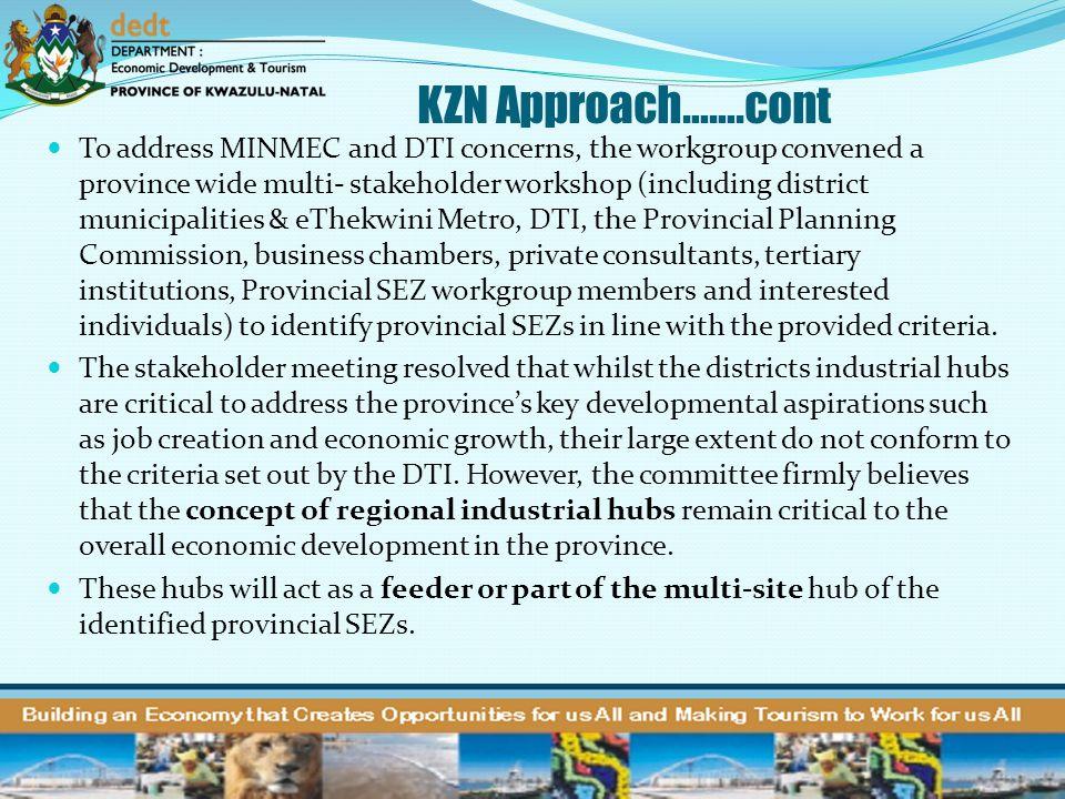 KZN Approach…….cont