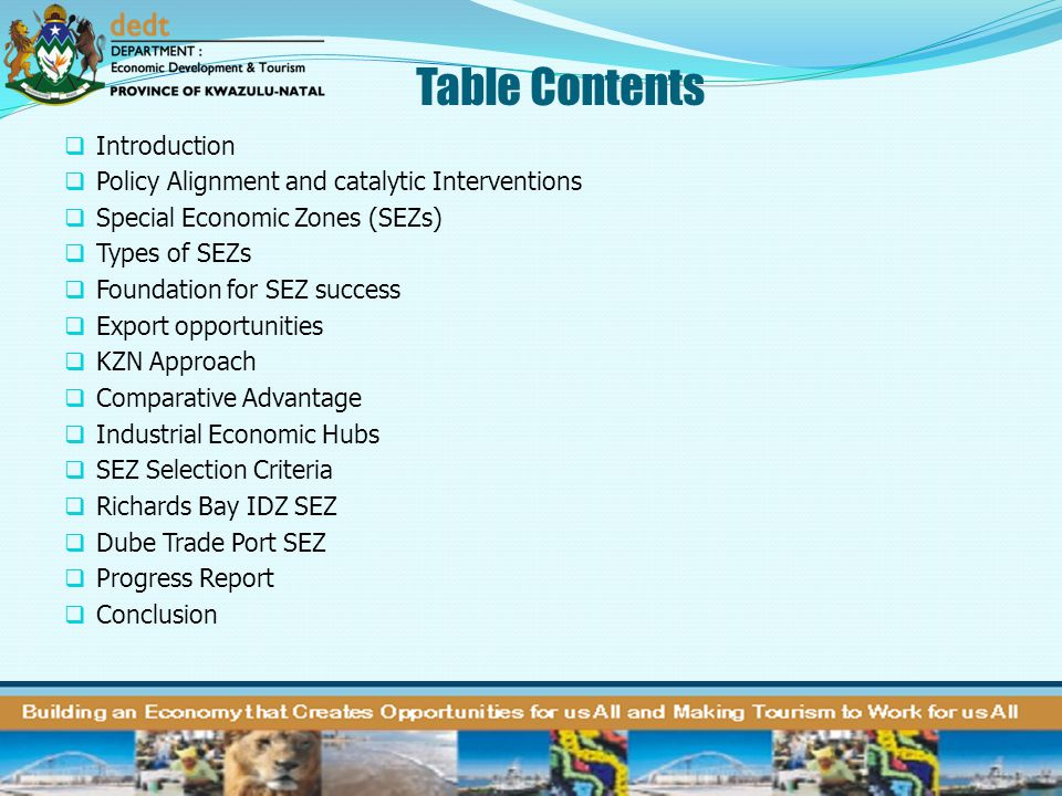 Table Contents Introduction