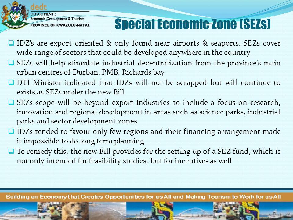 Special Economic Zone (SEZs)