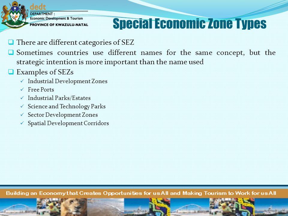 Special Economic Zone Types