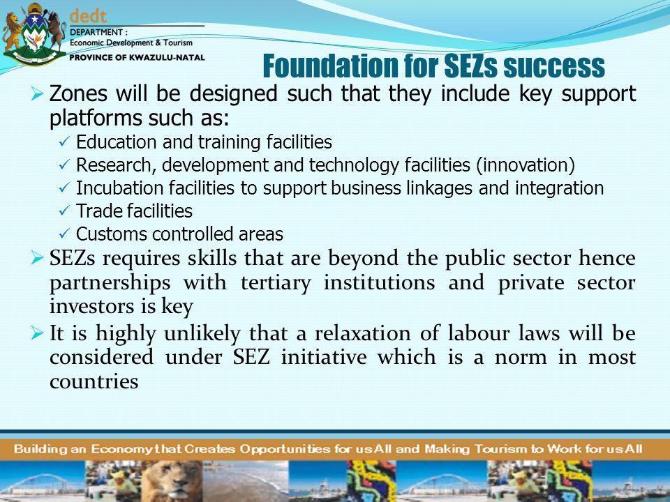 Foundation for SEZs success