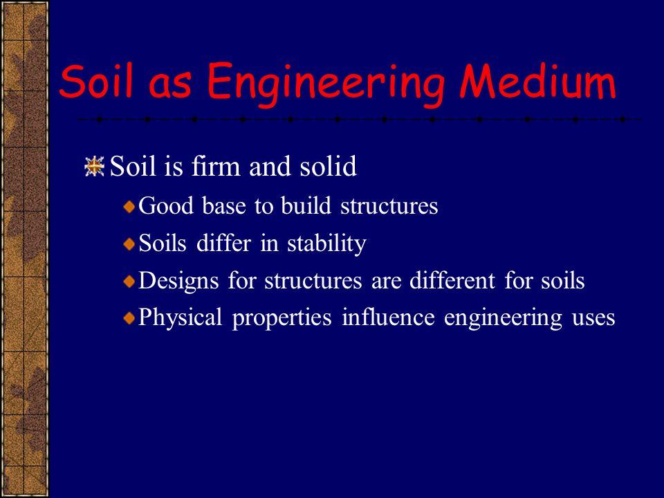 Soil as Engineering Medium