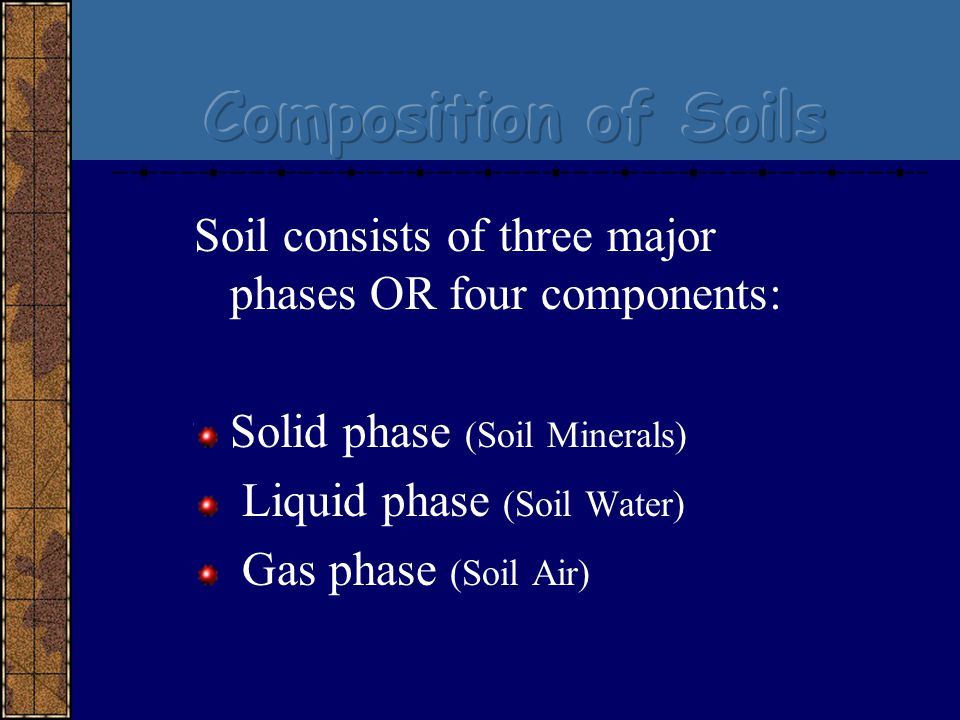 Introductory soils ppt video online download for Four main components of soil
