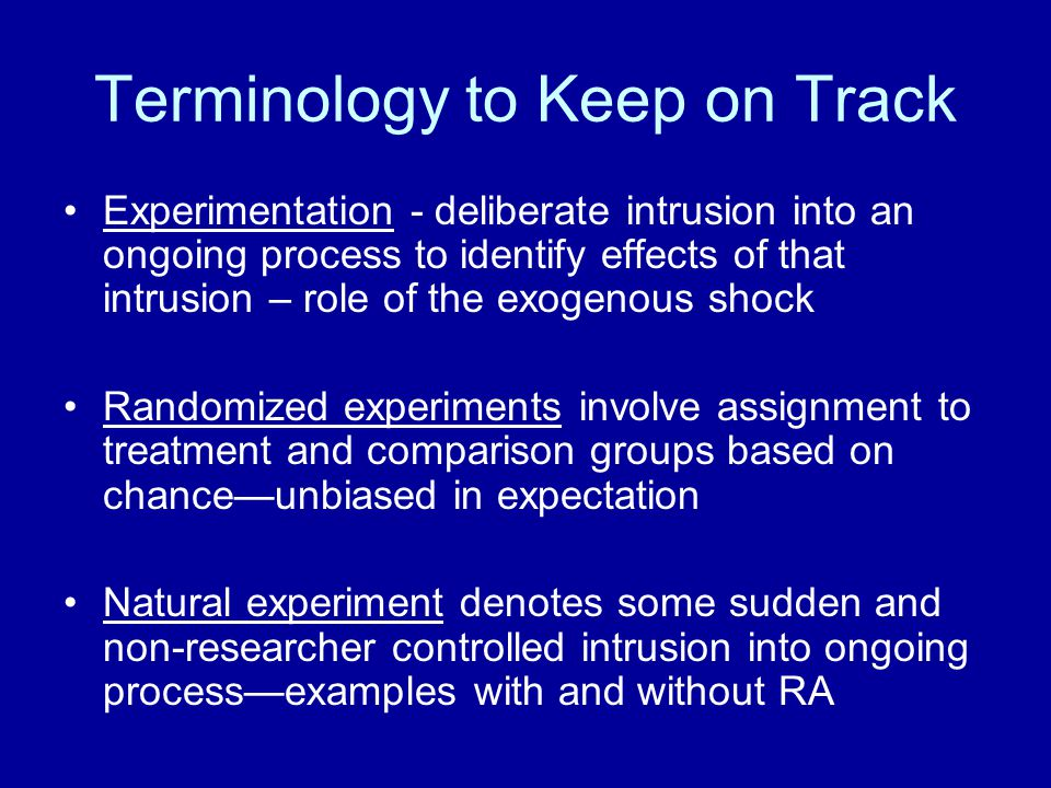 Terminology to Keep on Track