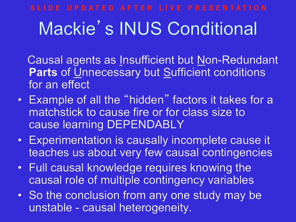 Mackie's INUS Conditional