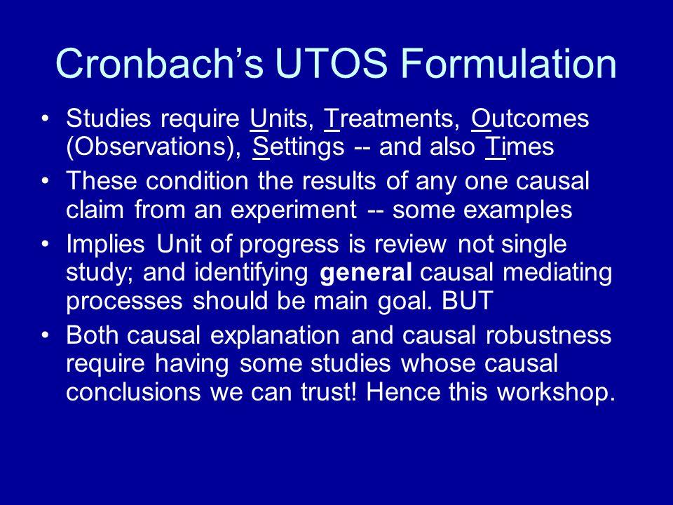 Cronbach's UTOS Formulation