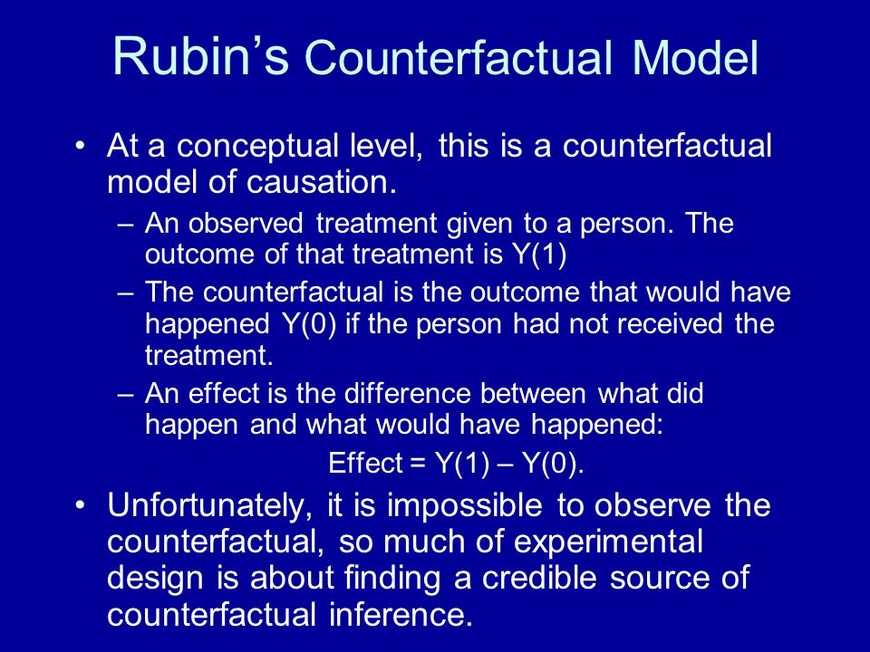 Rubin's Counterfactual Model