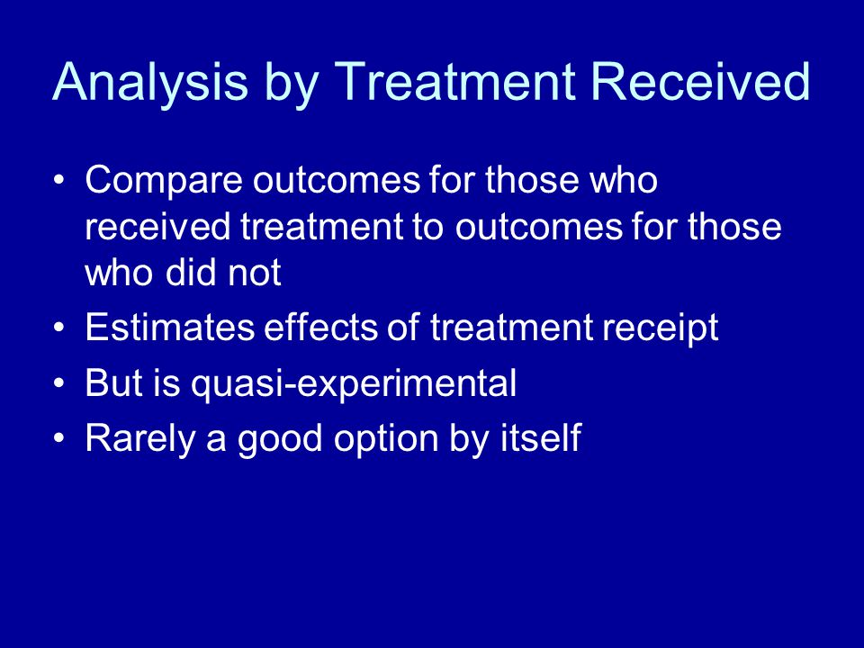 Analysis by Treatment Received