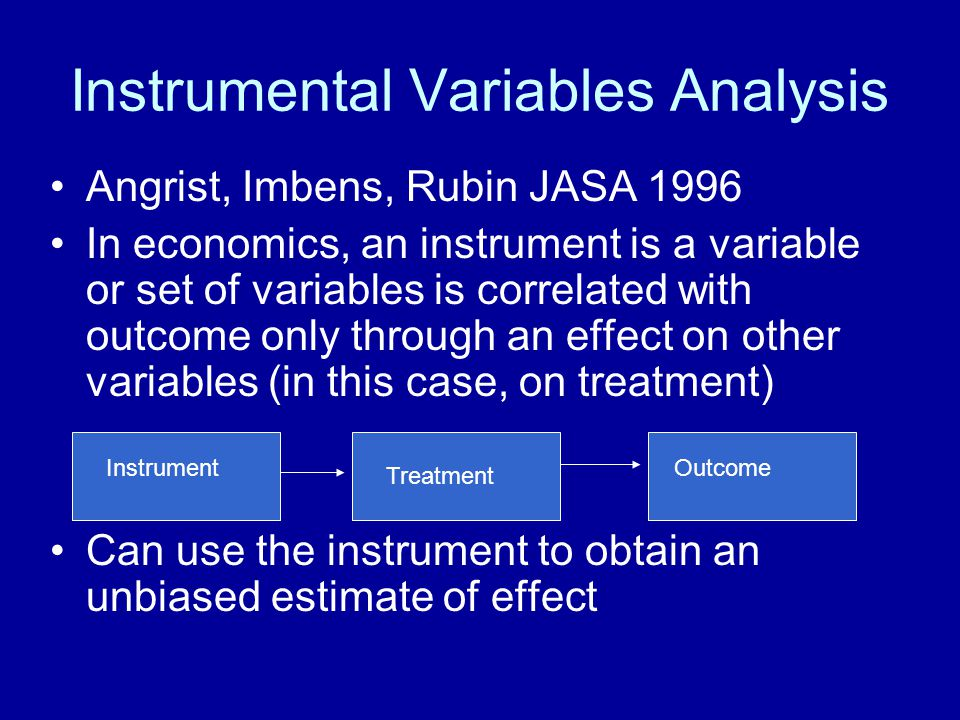 Instrumental Variables Analysis