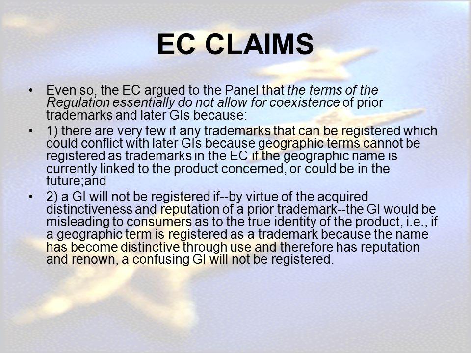 EC CLAIMS