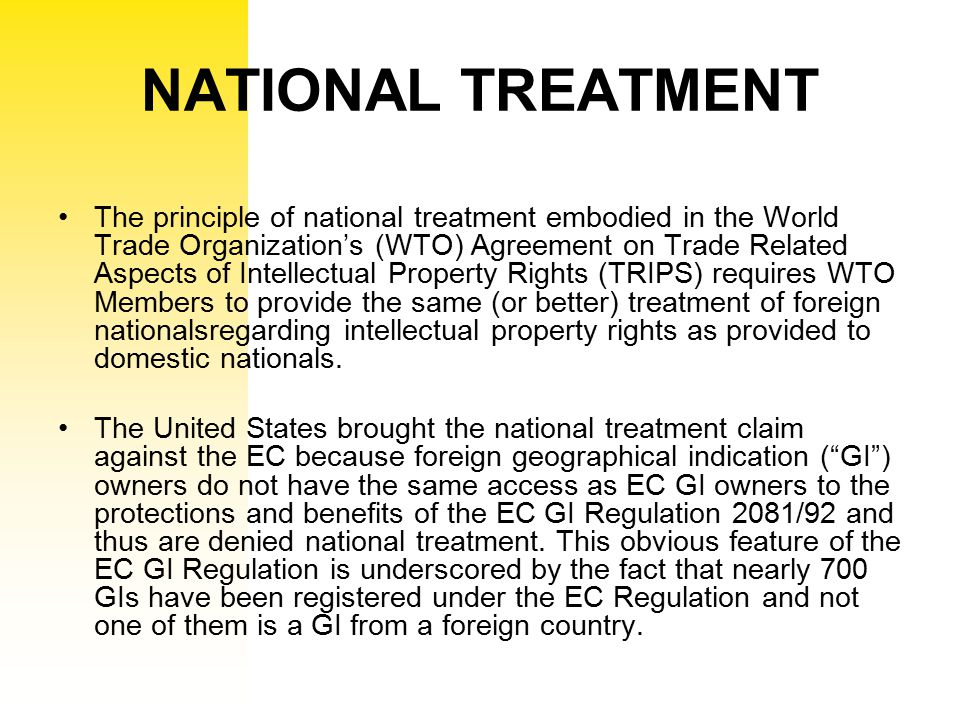 NATIONAL TREATMENT