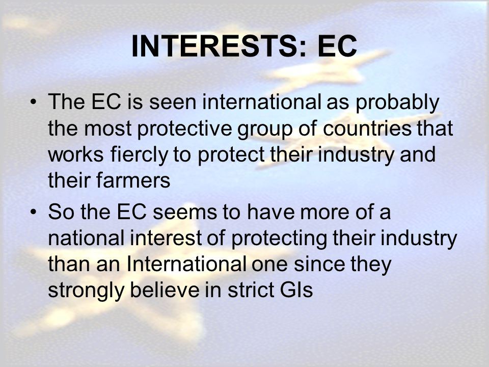 INTERESTS: EC