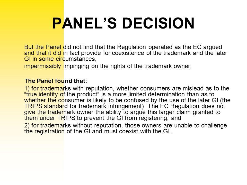 PANEL'S DECISION