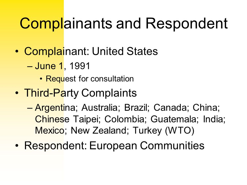 Complainants and Respondent