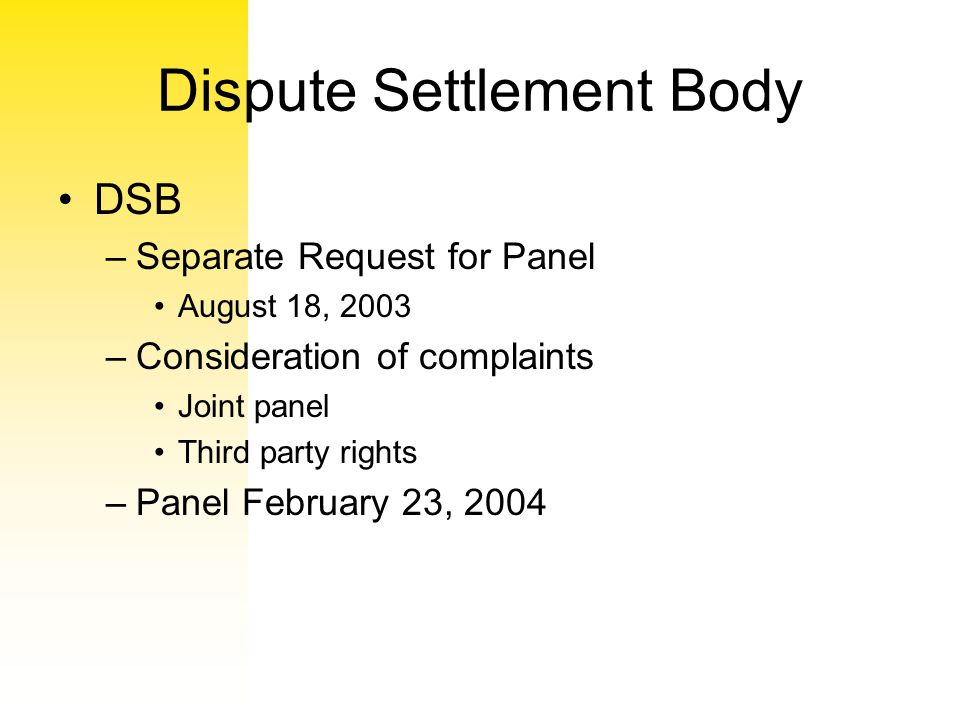Dispute Settlement Body