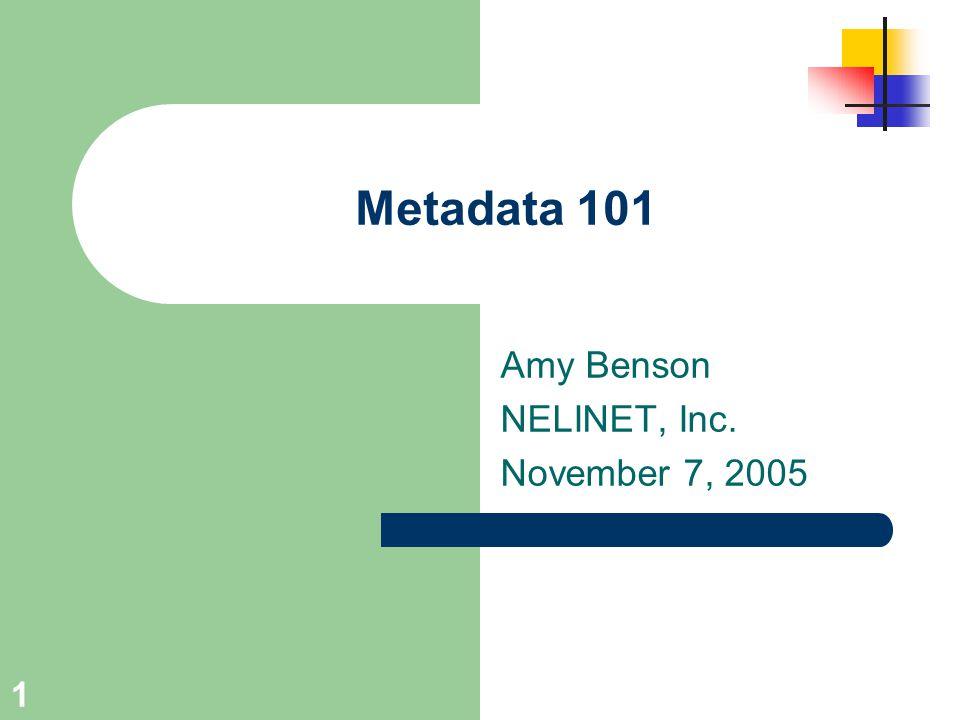 Amy Benson NELINET, Inc. November 7, 2005