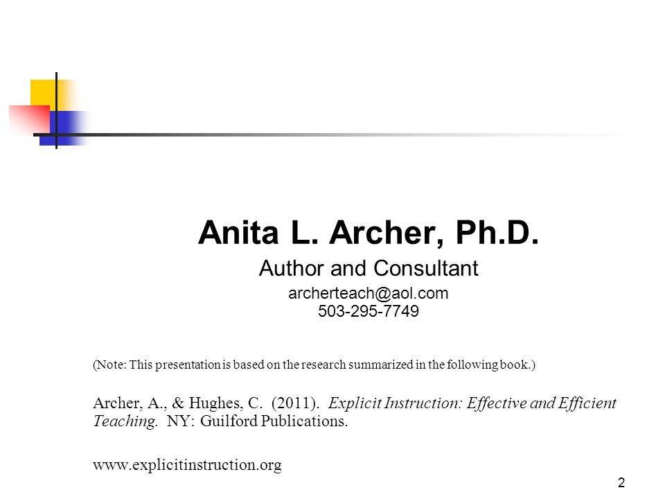 archerteach@aol.com 503-295-7749