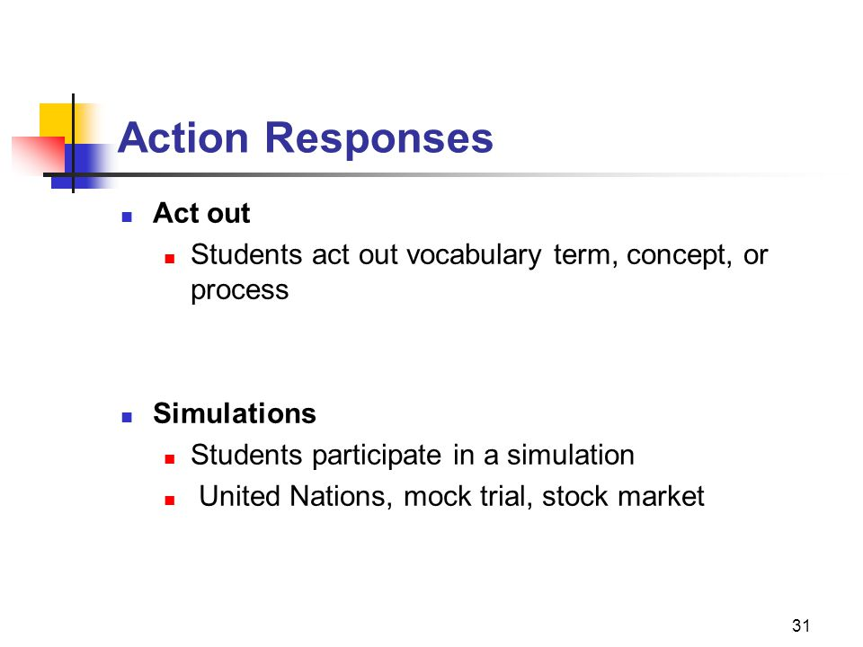 Action Responses Act out
