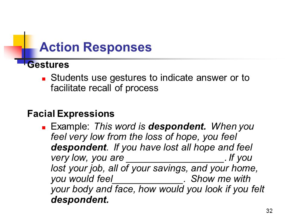 Action Responses Gestures
