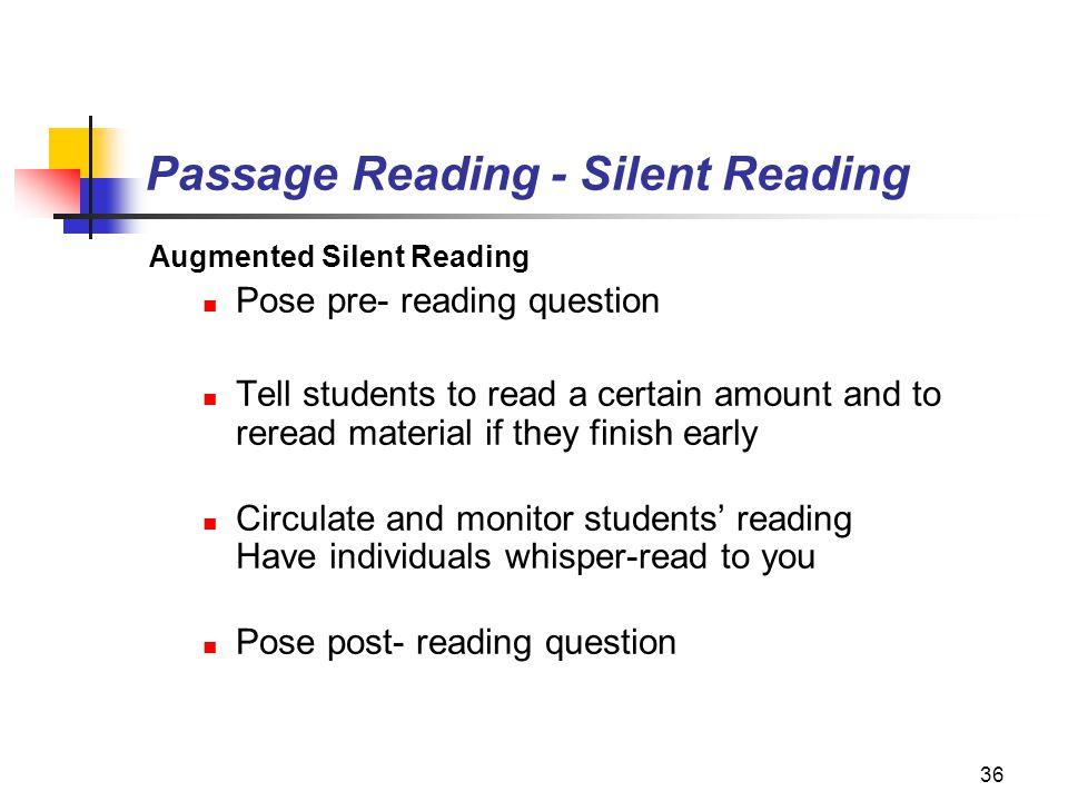 Passage Reading - Silent Reading