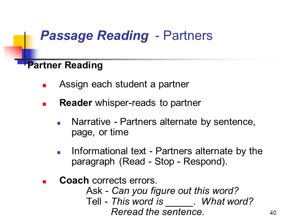 Passage Reading - Partners