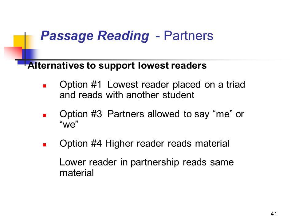 Passage Reading - Partners
